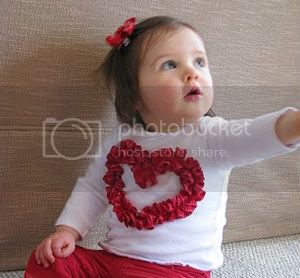 Ruffled Ribbon Heart Shirt